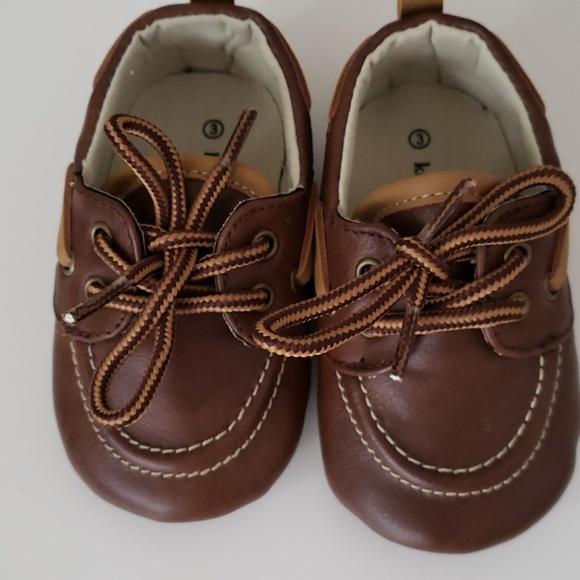 Brand New! Koala Kids Brown Faux Leather Boat Shoes Size 5